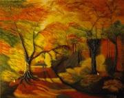 tableau paysages ballade automne bois automne : Mon jardin d'Eden
