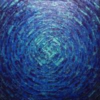 Éclat de lueur bleue dégradée iridescente