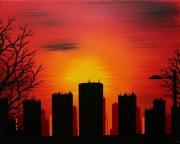 tableau architecture acheter peinture urbanisme ville : Urbanisme