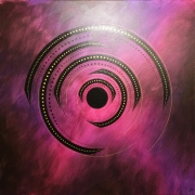tableau abstrait rotation rose œuvre art : Rotation rose