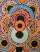 tableau abstrait pointillisme pupille abstrait posca : Pupilles