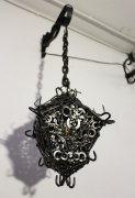 deco design abstrait lanterne fer lampe medievale : Lanterne de fer