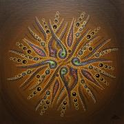 tableau abstrait acrylique mouvement formes marrons : Mouvement de formes marrons