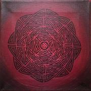 tableau abstrait acheter motif fuchsia tribal : Fuchsia tribal