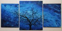 Silhouette d'arbre sombre