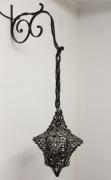 deco design abstrait lanterne reverbere eclairage fer : Lanterne médiévale / 4 branches