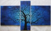 tableau paysages arbre tortueux nuit posca : Arbre Tortueux