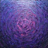 Éclat de lueur rose violette iridescente