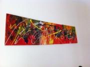 tableau abstrait abstrait rouge : pop