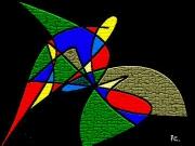 art numerique abstrait reverie evasion envol oiseau : c16