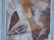 tableau abstrait terre paysage rue fleurs : terre