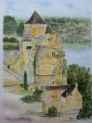 tableau architecture dordogne castelnaud chateau bord dordogne : CHATEAU DE CASTELNAUD EN DORDOGNE