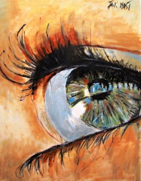 TABLEAU PEINTURE jack mast huile oeil Peinture a l'huile  - mon oeil