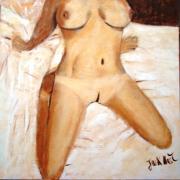 tableau nus femme nue poitrine sans culotte : CHARNELLE
