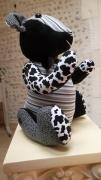 deco design animaux ours decoration ours tendance ours tissu animal decoration ti : Ours de décoration TENDANCE noir & blanc rayé