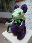 deco design animaux ours decoration ours decoration tiss animaux de decoratio decoration interieur : Ours de décoration en tissu RIGOLO vert anis & violet