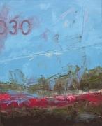 tableau abstrait marine bleu matiere bateau : 030