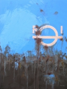 tableau abstrait abstrait marine bateau matiere : RI