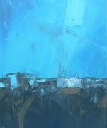 tableau abstrait abstrait marine bateau matiere : Impacte