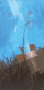 tableau abstrait abstrait marine bateau matiere : Sans titre