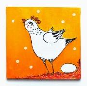 tableau animaux : La poulette et l'oeuf