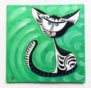 tableau animaux : Chat réfléchi