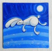 tableau animaux : Lapin fatigué