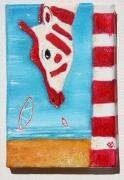 tableau marine phare mer plage bretagne : Girafe