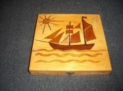 bois marqueterie marine boite bateau boite marqueterie marqueterie bateau galion christophe co : BOITE EN BOIS AVEC DECOR BATEAU EN MARQUETERIE