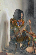 art numerique personnages femme africaine camerounaise : femme africaine
