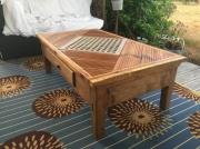 bois marqueterie autres bois caillebotis tiroir table : Tab