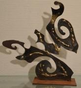 sculpture abstrait acier laiton decoupe abstrait : Dec 1