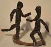 sculpture personnages personnages fer poli sculpture danse : Rit