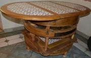 bois marqueterie table ceramique transformation noyer : Versatile