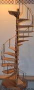 artisanat dart maquette escalier helicoidal hetre : Hemi-ADN