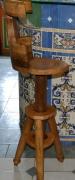 bois marqueterie tabouret chene reglable dossier : Tab