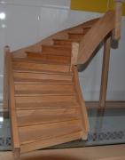 bois marqueterie maquette escalier hetre modele reduit : Sta
