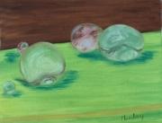 tableau : gouttes d'eau