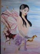 tableau personnages fee manga : La femme papillon