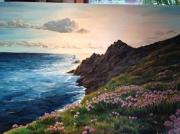 tableau paysages couche de soleil bretagne mer : couché de soleil sur la Pointe du Raz