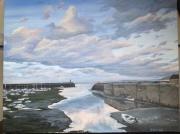tableau port mer nuages : Port Moergat
