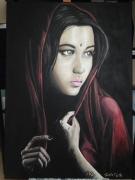 tableau personnages portrait femme orient : Femme afghane