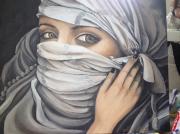 tableau personnages femme orientale drape : drapé d'orient