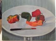 tableau nature morte : poivrons