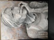 tableau personnages femme monde ethnie portrait : Femme Kalinga des Phillippines