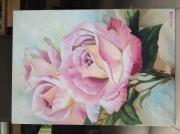 tableau fleurs roses fleurs : Only you