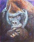tableau animaux gorille singe animal afrique : JE TE RESSEMBLE