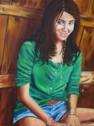 tableau personnages portrait jeune fille naturelle : andrea portrait