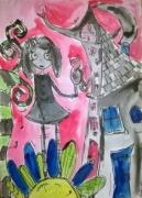photo personnages aquarelle personnage jeunesse illustration : My little girl