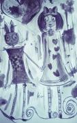dessin personnages aquarelle enfant jeunesse encre : My lovely friend